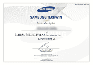Samsung Techwin - SIPI training