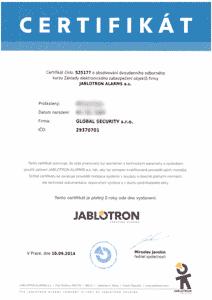 Jablotron - zabezpečovací systémy
